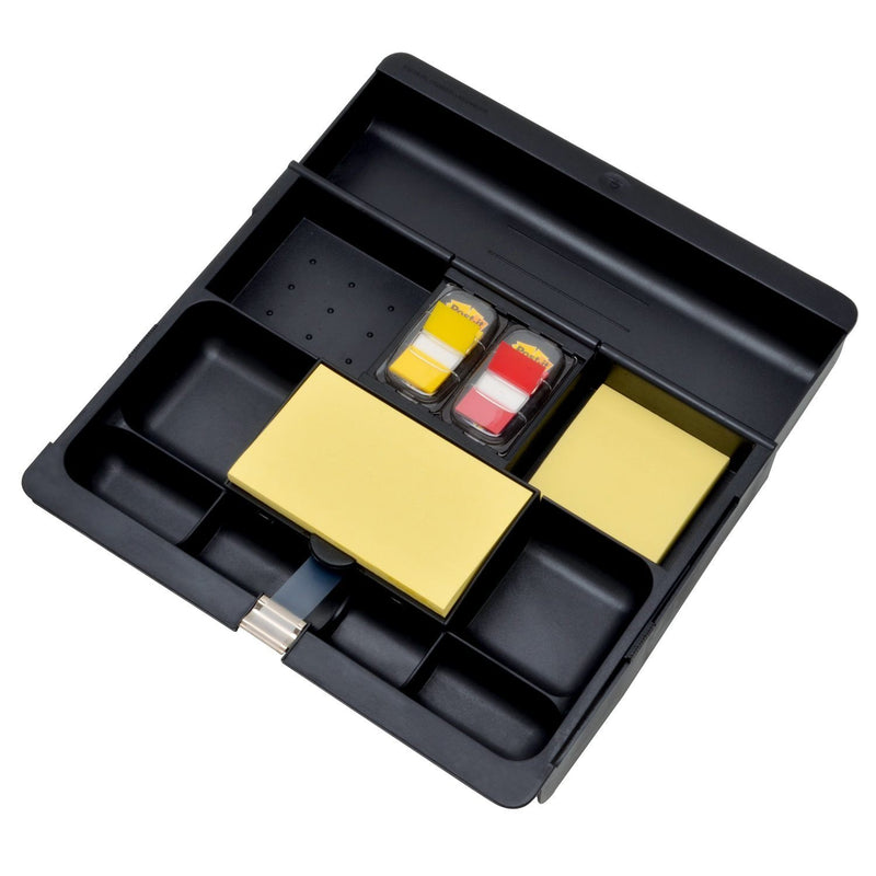 Australia Post-it Desk Drawer Organizer, 10.5 in x 11.75 in x 1.625, Black (C-71)