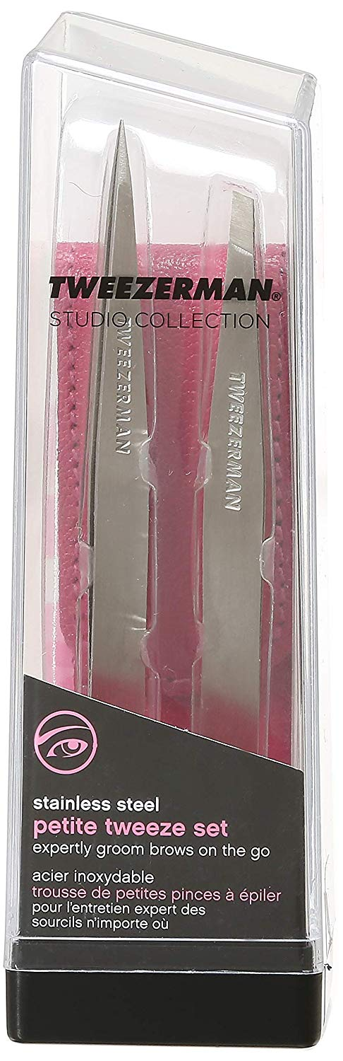 Tweezerman Petite Tweeze Set with Pink Case