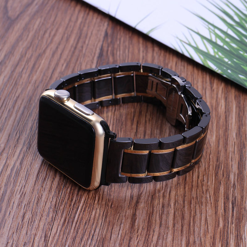 For Apple Watch Band 42mm Ceramic, Originality Club Premium Ceramic Bracelet iWatch Bands Strap Smart Watch Replacement Wrist Band for Apple Watch Series 3/2/1 Black&Gold