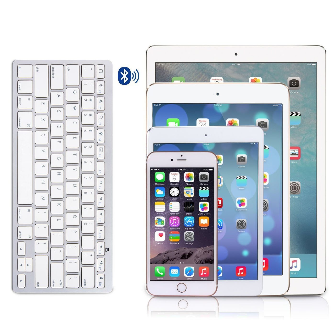 OMOTON Ultra-Slim Bluetooth Keyboard for Apple iPad Air 3/2