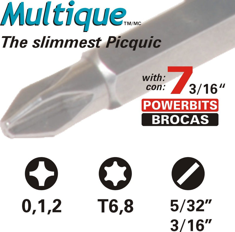 Multique and Teeny Turner Driv Picquic 88562 Carded Combo Pack with Sixpac Plus