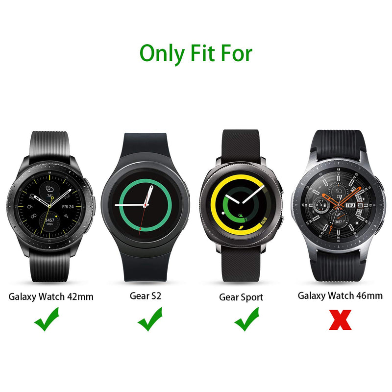 [4 Pack] OMOTON Tempered Glass Screen Protector Compatible with Samsung Galaxy Watch 42mm/ Gear S2/ Gear Sport