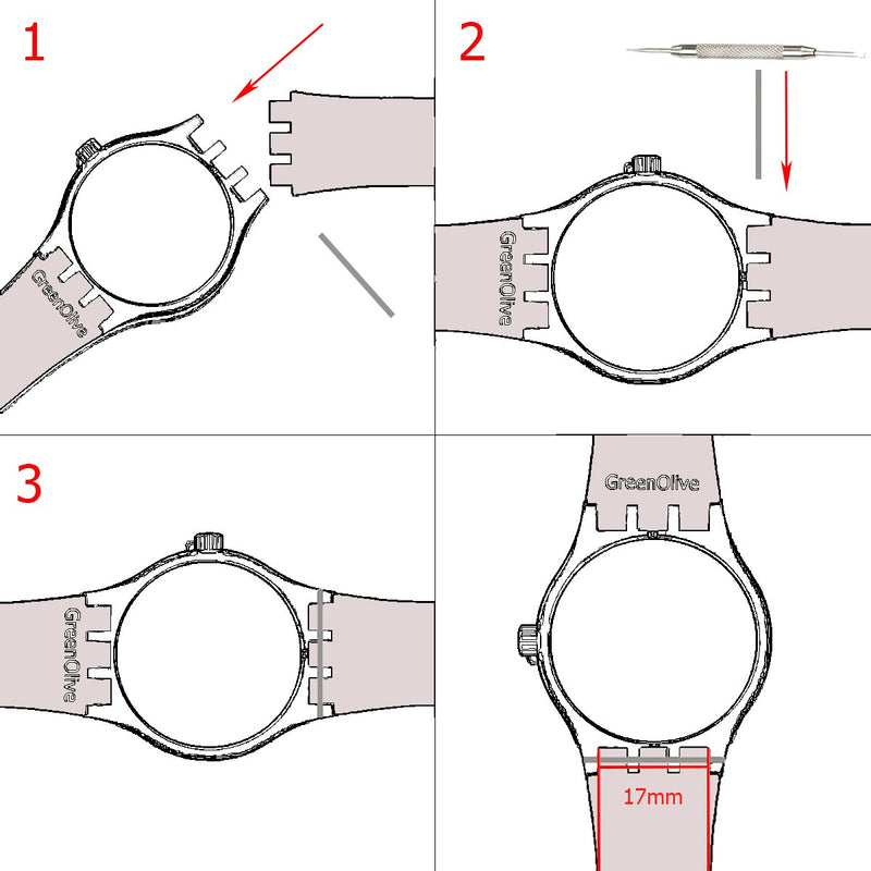 Australia Silver Plated Stainless Steel Buckle Waterproof Silicone Rubber Watch Strap Watch Band