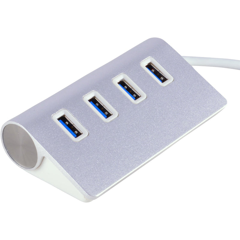 JacobsParts UH3-07 4-Port USB 3.0 SuperSpeed Aluminum Hub for MacBook Pro, MacBook Air, and All PCs