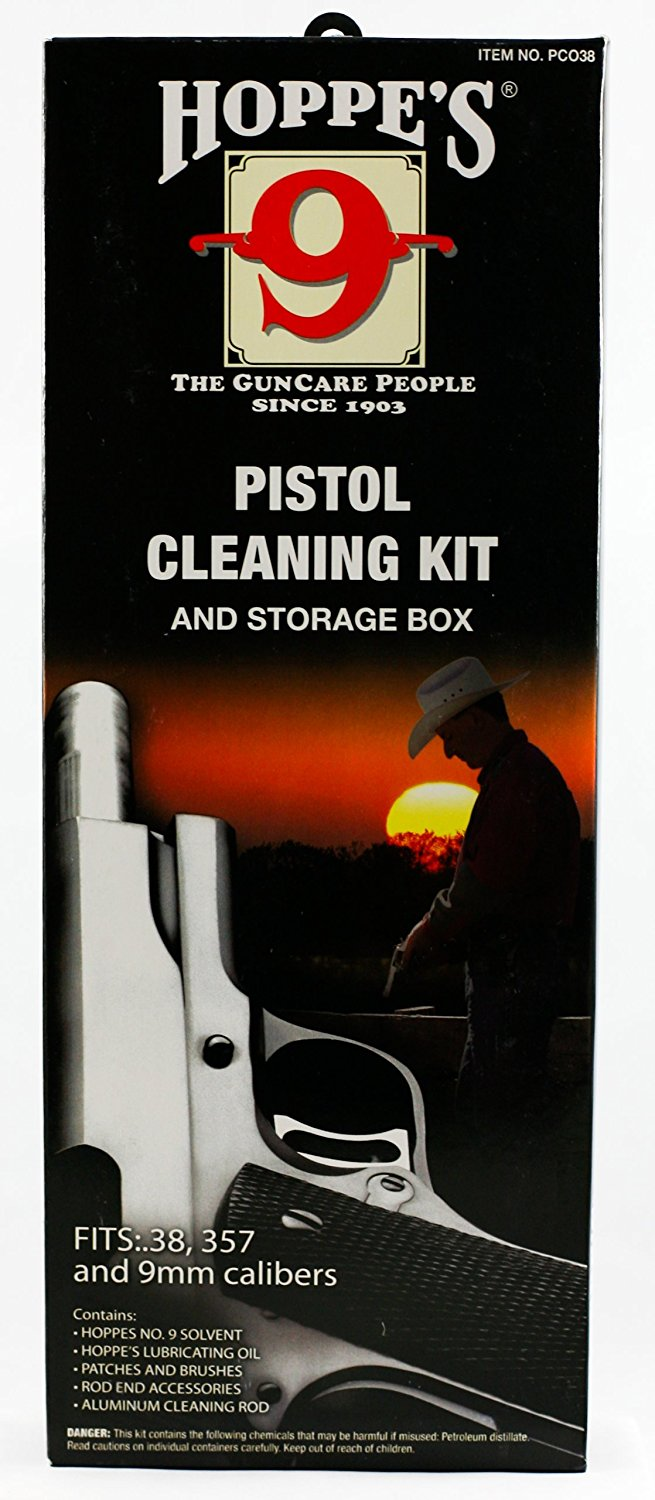 Australia Hoppe's No. 9 Cleaning Kit with Aluminum Rod, .38/.357 Caliber, 9mm Pistol