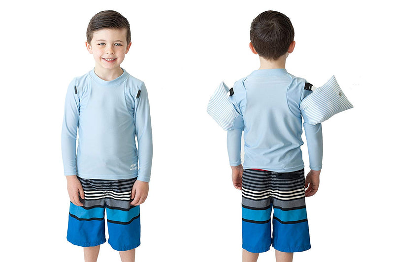 Otter Wings Kids Floaties (Water Wings)/UPF Swim Shirt Combo Swim Aid - Long Sleeve