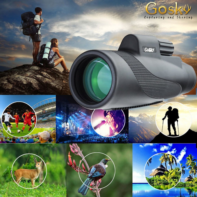Gosky Titan 12X50 High Power Prism Monocular and Quick Smartphone Holder Australia