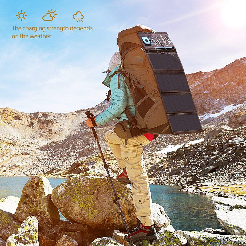 BigBlue New 28W Portable Solar Charger Dual USB Ports Australia