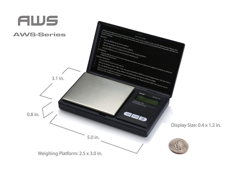 Australia American Weigh Scales Signature Series Black AWS-1KG-BLK Digital Pocket Scale, 1000 by 0.1 G