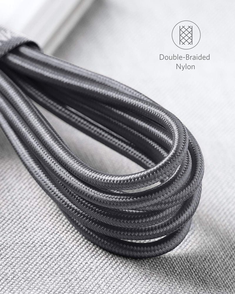 Australia USB C Cable, Anker Powerline+ USB-C to USB-A [10ft], Double-Braided Nylon Fast Charging Cable, for Samsung Galaxy S10/ S9 / S9+ / S8 / S8+ / Note 8, LG V20 / G5 / G6, and More (Gray)