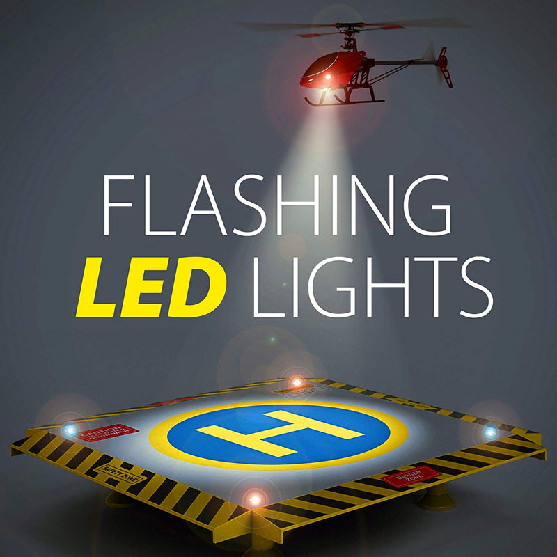 Australia Eagle Pro Remote Control Helicopter Landing Pad - Complete Edition - Flashing LED Lights Installed - Suitable for RC Helicopters, Quadcopters, Drones, Syma Helicopters