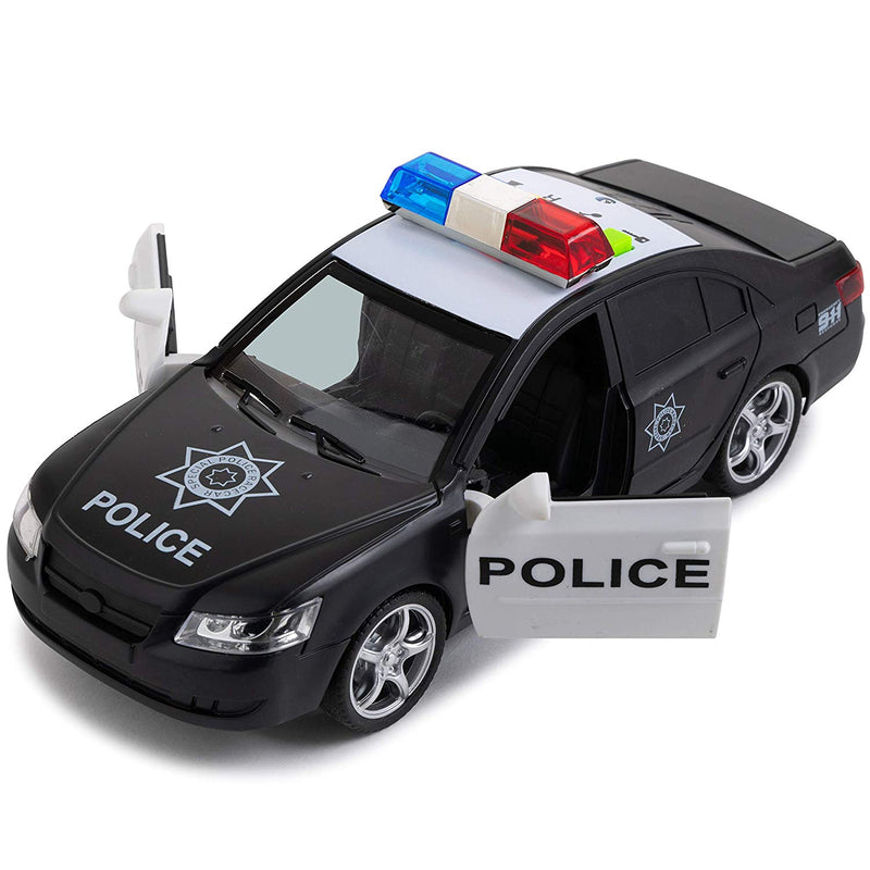 Australia Toy To Enjoy Friction Powered Police Car with Light & Sounds – Heavy Duty Plastic Vehicle Toy for Kids & Children – Openable Doors, Detailed Interior