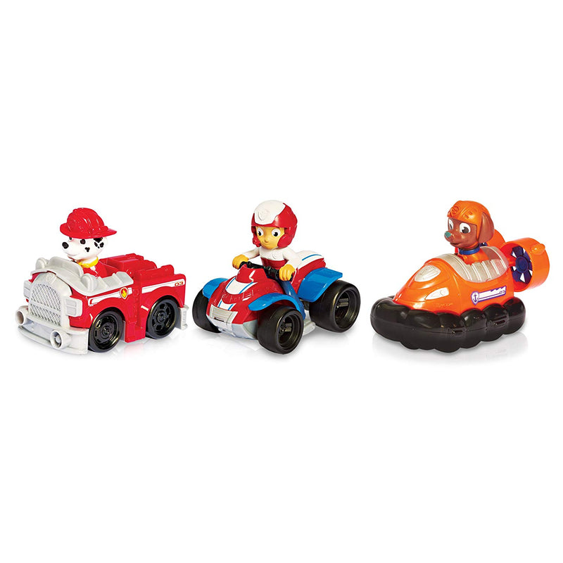 Australia Paw Patrol Racers 3-Pack Vehicle Set, Ryder, Zuma, Marshall
