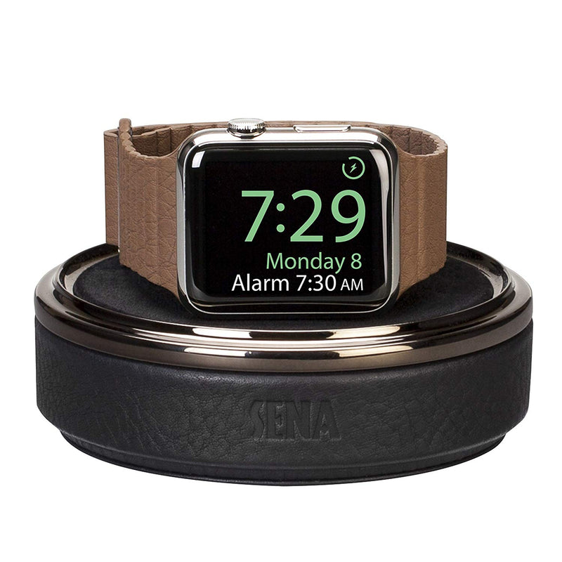 Australia Sena Leather Watch Charging Case for Apple Watch - Black