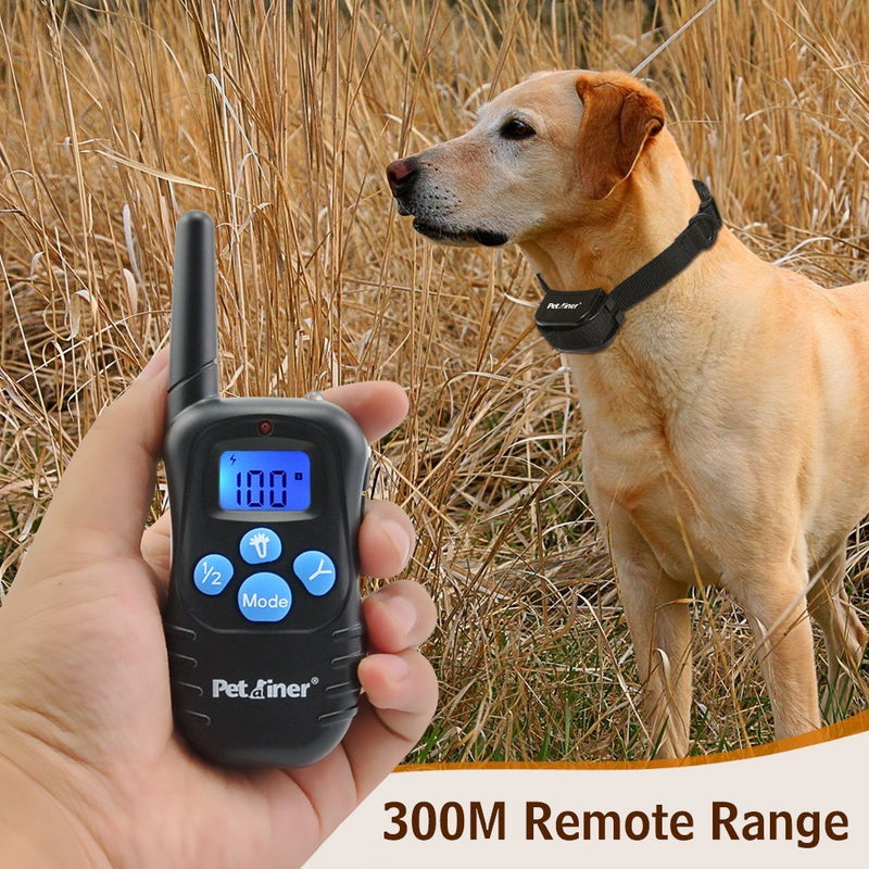 Petrainer PET998DRB1 330 yd Remote Vibra, Shock Dog Training Collar