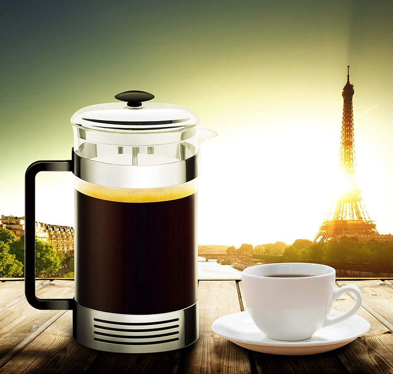 All-In-One French Press Coffee Maker | Dual Function Coffee Press And Tea Maker | High-Grade Stainless-Steel Single Cup or 32 OZ Multi-Cup | Make Gourmet Coffee At Home With This French Coffee Press