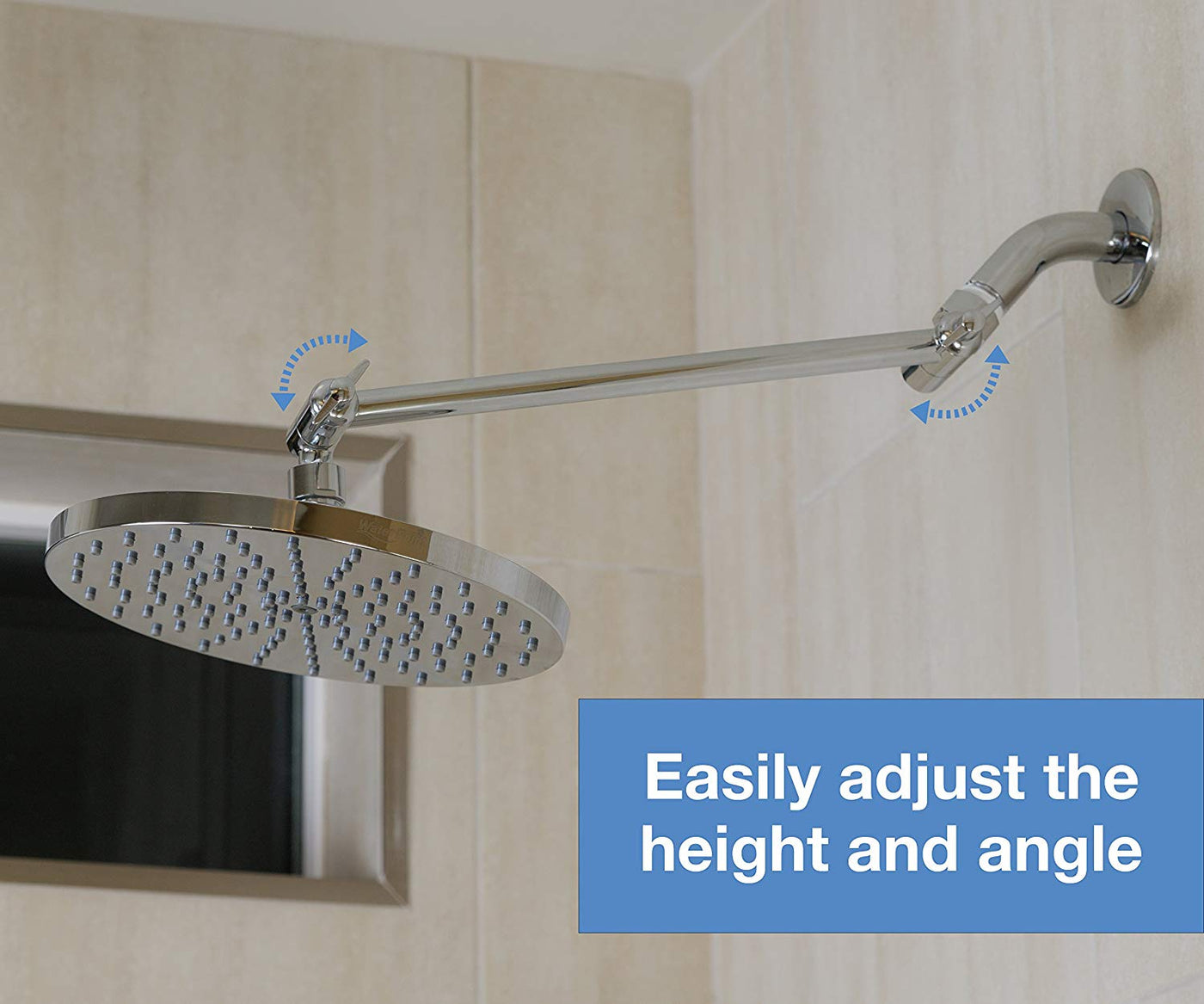 Adjustable Shower Arm Extension By Waterpoint Brass Shower