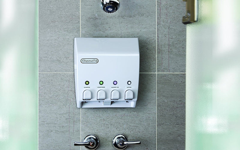 Australia Better Living Products 71450 Classic 4-Chamber Shower Dispenser, White