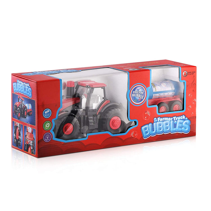 Australia Prextex Bump & Go Bubble Blowing Farm Tractor Truck with Lights Sounds and Action Fun Toy and Gift for Kids