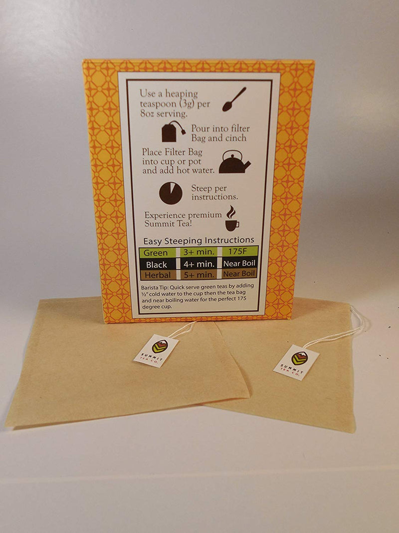 Australia Summit Tea - Our Best Draw String Unbleached 100 Count Disposable Tea, Herb and Spice Bags