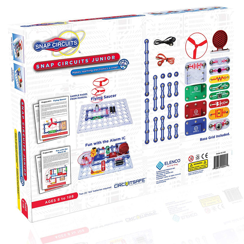 Australia Snap Circuits Jr. SC-100 Electronics Exploration Kit | Over 100 STEM Projects | 4-Color Project Manual | 30 Snap Modules | Unlimited Fun