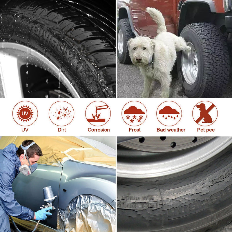 "Australia Amfor Set of 4 Tire Covers,Waterproof Aluminum Film Tire Sun Protectors,Fits 27"" to 29"" Tire Diameters,Weatherproof Tire Protectors"