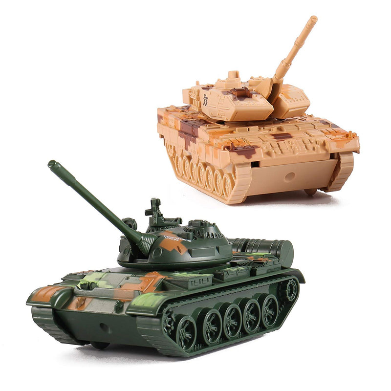 Australia Liberty Imports T-55 Diecast Metal Military Pullback Model Battle Tanks with Lights and Sound (2-Pack)