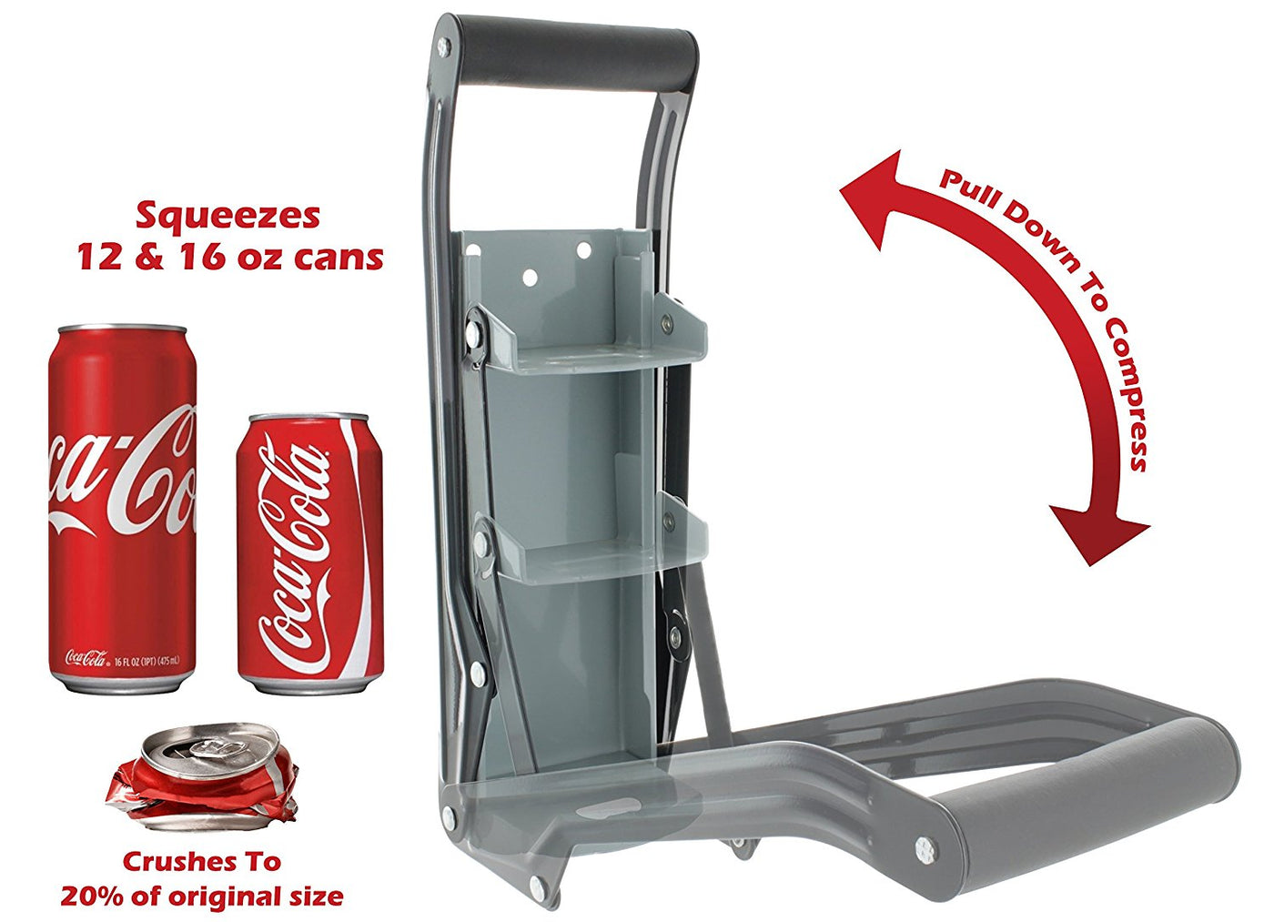 USA delivery N//Q Can Crusher Aluminum Can Crusher Crush 10 Cans in 10 Seconds