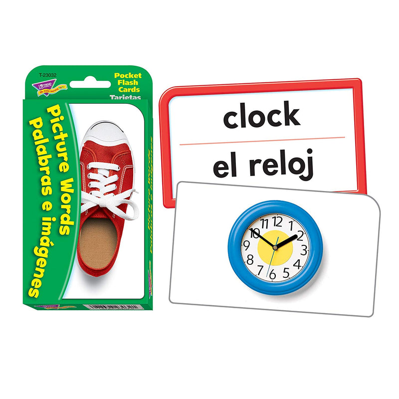 Picture Words Palabras e imágenes Pocket Flash Cards