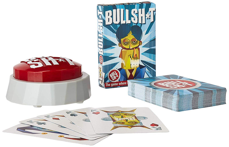 Australia BS Button Game (60 Hilarious Phrases Plus Bullshit Playing Cards)