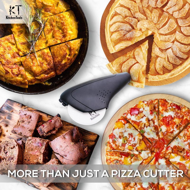 Australia Pizza Cutter Wheel That Cuts Right Through Pizza Crust in the First Cut, Super Sharp Ceramic Blade Slicer With Protective Cover and Grip That Doesn't Allow it to Slip