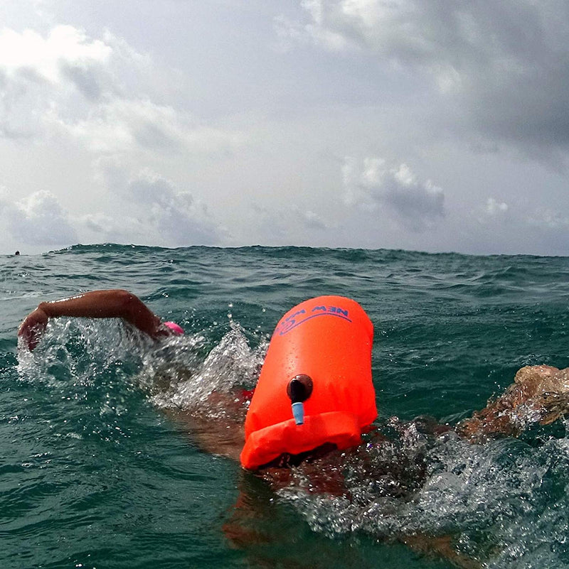 6525591ac00 ... New Wave Swim Buoy - Swim Safety Float and Drybag for Open Water  Swimmers, Triathletes ...