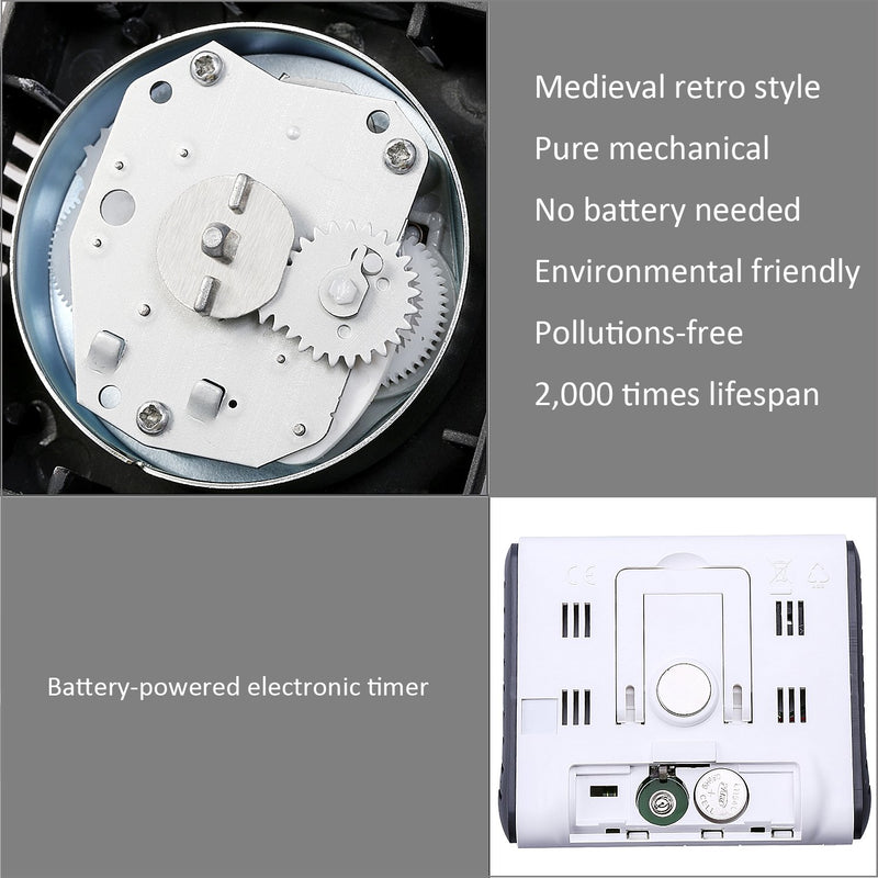 Australia KeeQii Timer Kitchen Timer 60 Minute Timing with 80dB Alarm Sound Magnetic Countdown Timer Home Baking Cooking Steaming Manual Timer Stainless Steel Face Mechanical Timer (New Timer)