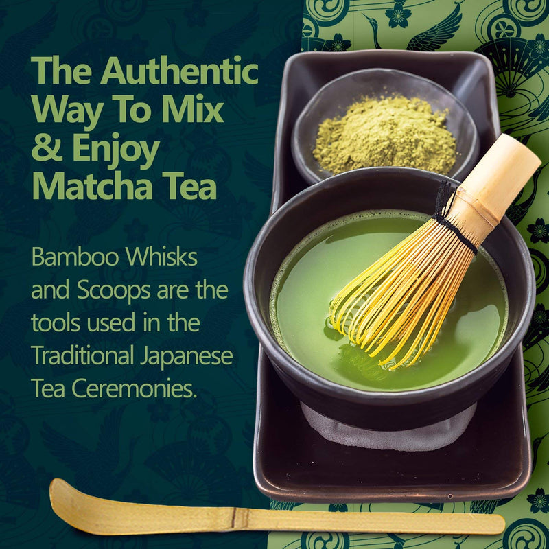 Bamboo Matcha Tea Whisk, Scoop and Small Spoon
