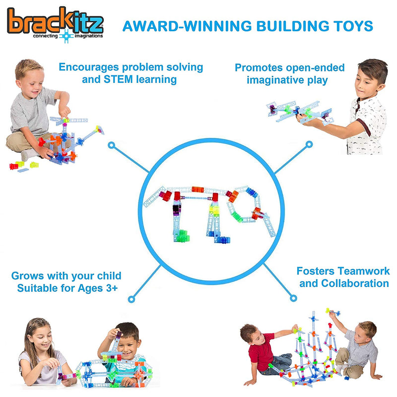 Australia Brackitz Bugz Race Park STEM Discovery Building Toy for Kids Ages 3, 4, 5, 6+ Years Old | Fun Creative Learning Toys for Boys & Girls | Best Children Educational Construction Kits | 96 Piece Set