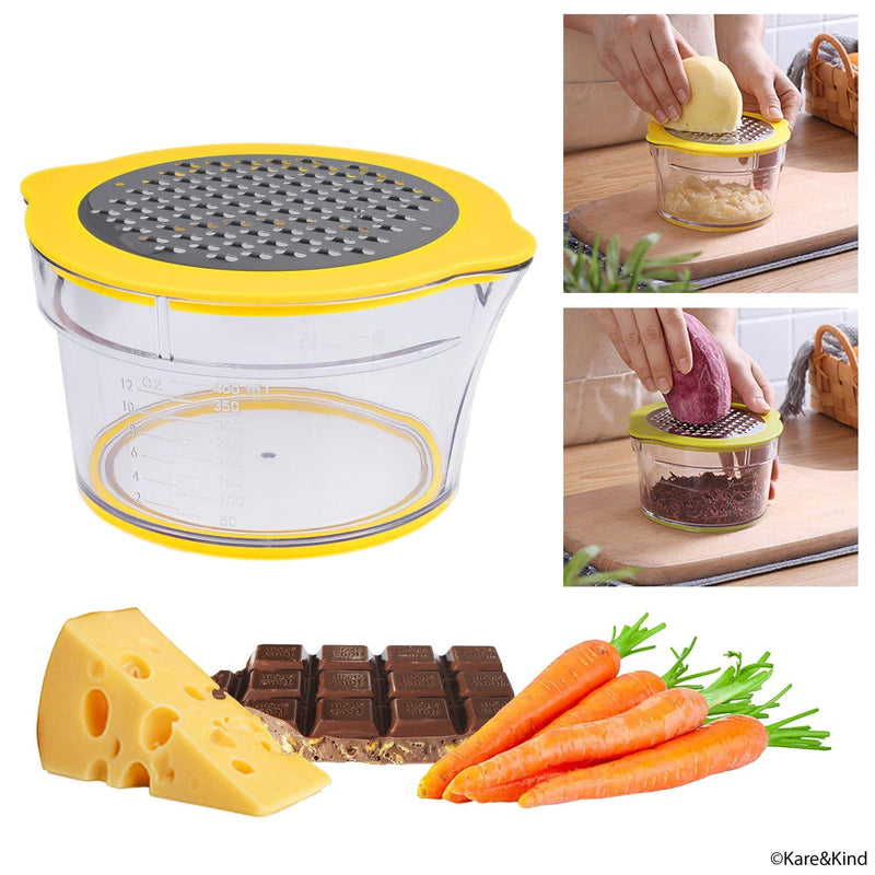 Australia Corn Stripper/Potato Peeler and Fruit/Vegetable/Chocolate Grater with Measuring Bowl - Space Saving Design - Non Slip Silicone Bottom - Dishwasher Safe - No Electricity, No Noise