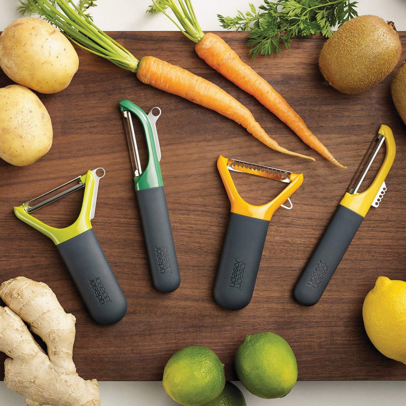 Australia Joseph Joseph 10110 Multi-Peel Y-shaped Julienne Peeler Easy Grip Handles Stainless Steel Blade for Kitchen Vegetable Fruit, Orange