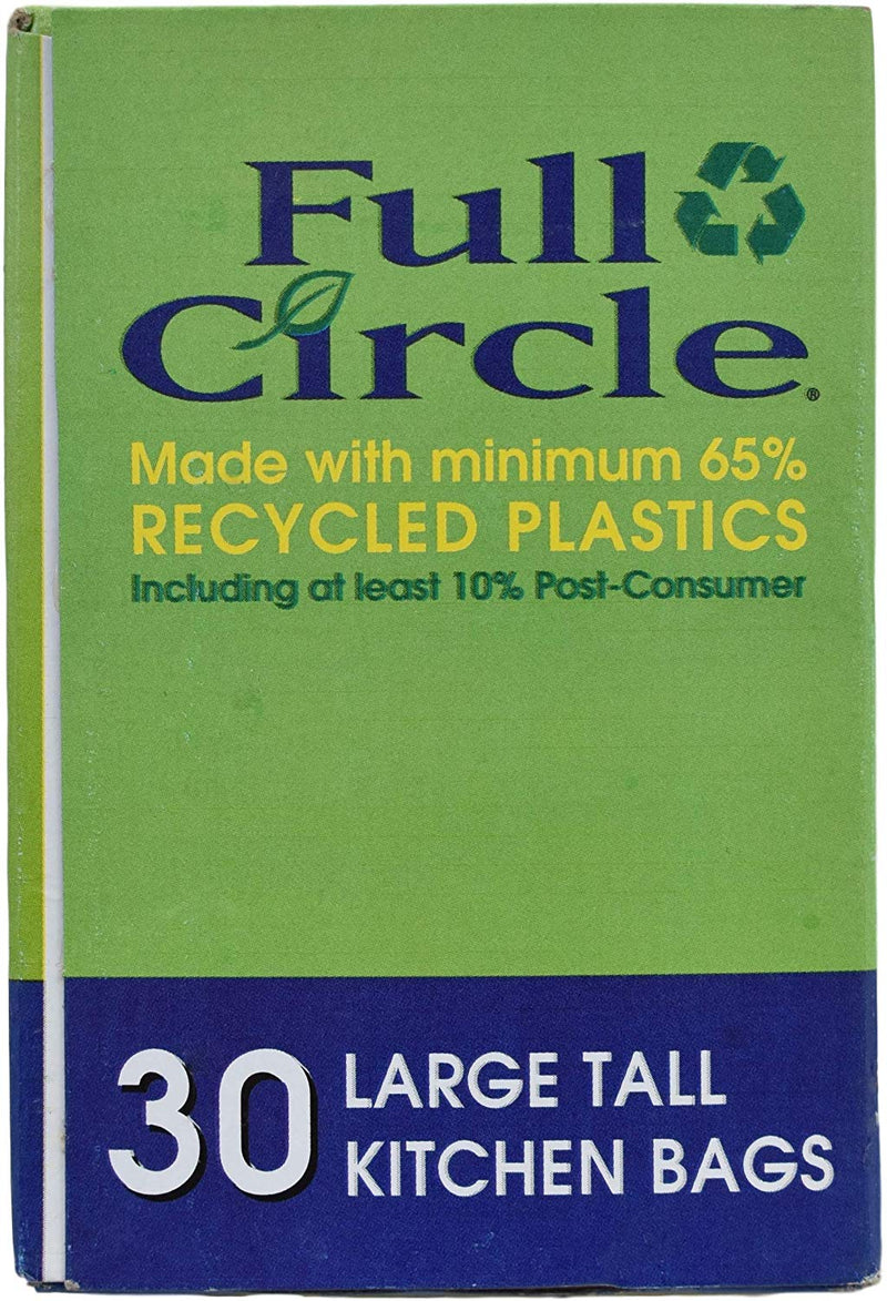 Australia Full Circle - Large Tall Kitchen Bags - 13 Gallon (49.2 L) - 30 Count
