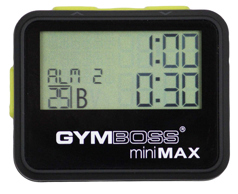 Australia Gymboss miniMAX Interval Timer and Stopwatch - BLACK/YELLOW SOFTCOAT