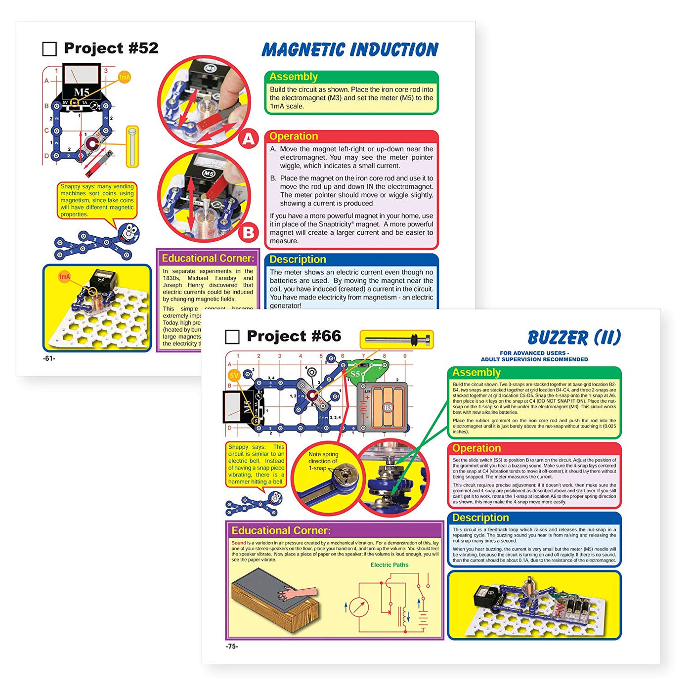 Snap Circuits Snaptricity Electronics Exploration Kit Over 75 Stem Project Circuit For You Projects 4 Color