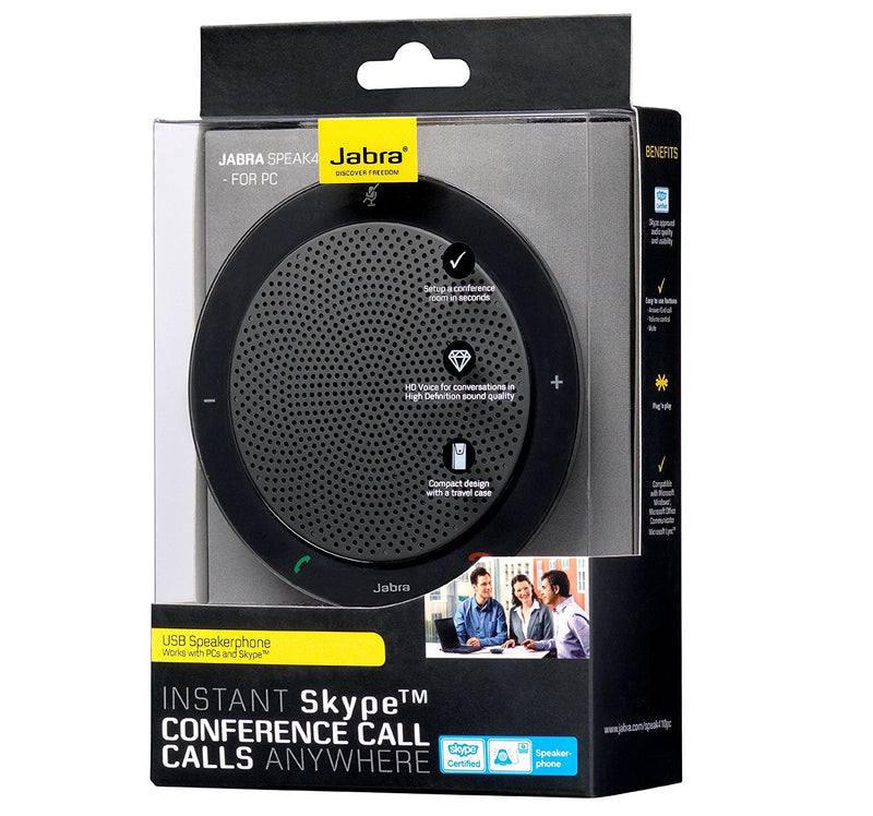Australia Jabra Speak PHS001U 410 USB Speakerphone for Skype and other VoIP calls (U.S. Retail Packaging), Black - 100-43000000-02