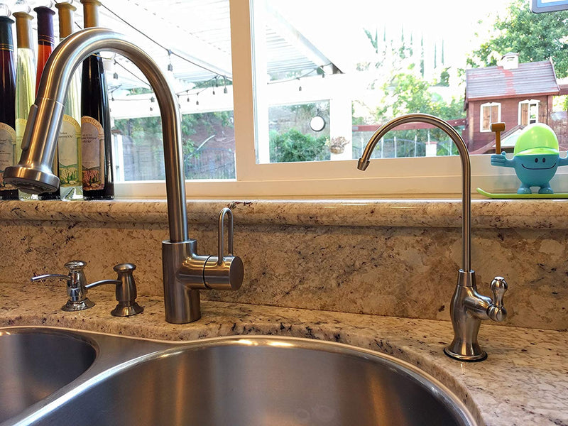 Australia Avanti Designer Kitchen Bar Sink Reverse Osmosis RO Filtration Drinking Water Faucet - NSF certified, built-in Air Gap, ceramic disk, lead-free - RF906A-BN Brushed Nickel