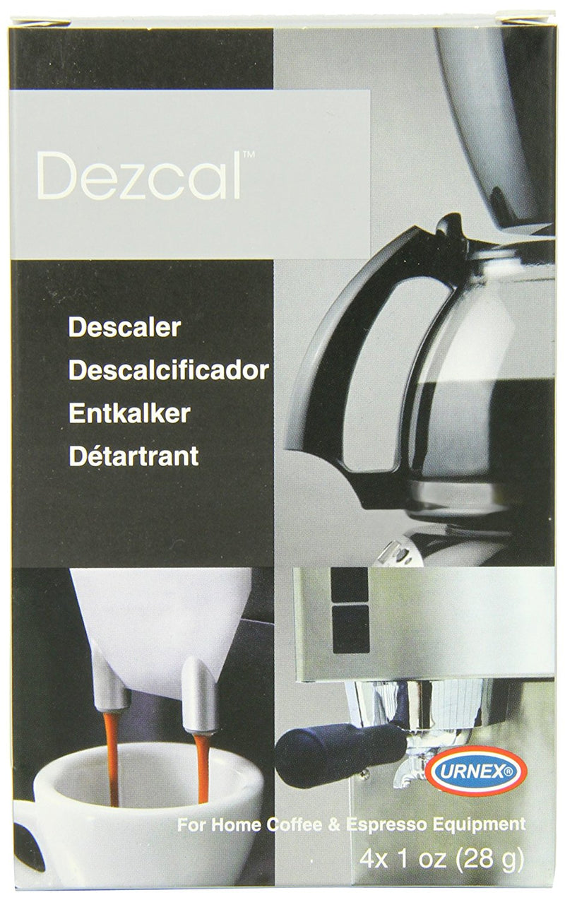 Australia Urnex Dezcal Coffee and Espresso Descaler and Cleaner - 4 Packets - Activated Scale Remover Use With Home Coffee Brewers Espresso Machine Pod Machine Capsule Machine Kettles Garmet Steamers