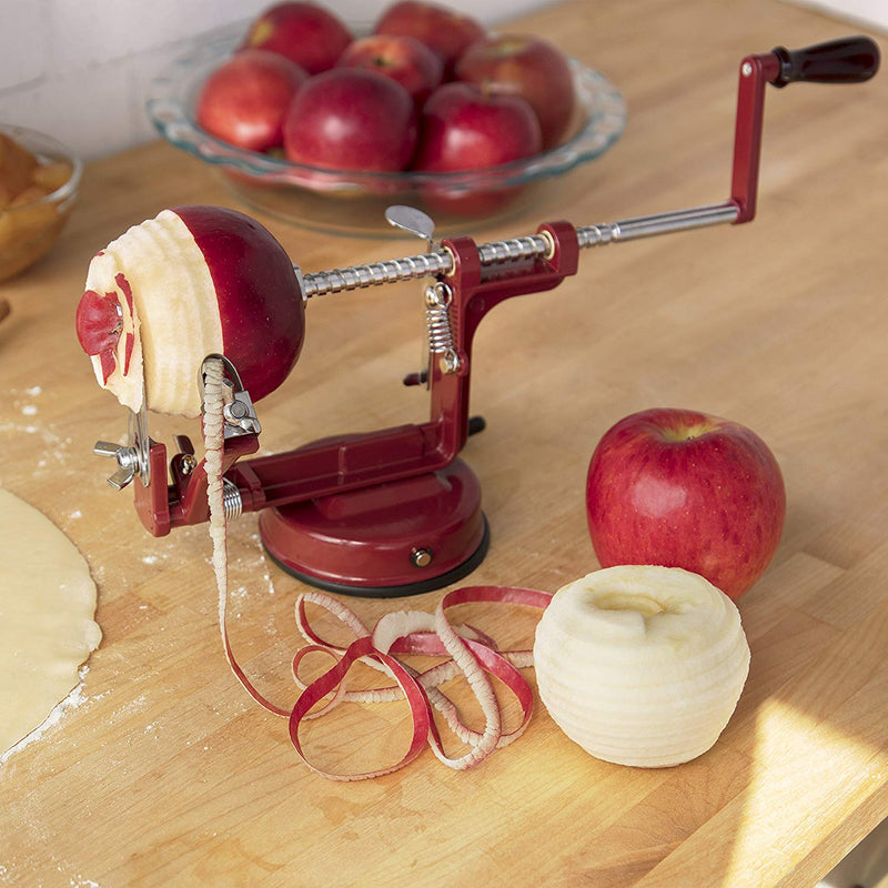 Australia Apple Peeler and Corer by Cucina Pro - Long Lasting Chrome Cast Iron with Countertop Suction Cup