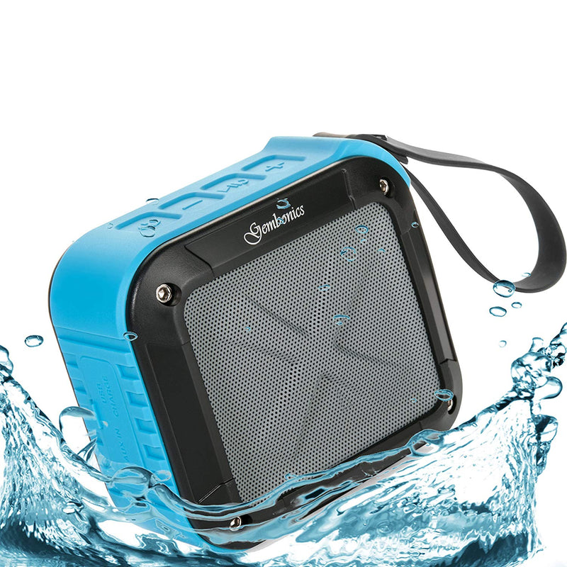 Australia Wireless Bluetooth 4.1 Speaker by Gembonics, Best Shockproof Waterproof Shower Speakers with 10 Hour Rechargeable Battery Life, Powerful Audio Driver, Pairs with All Bluetooth Devices (Blue)