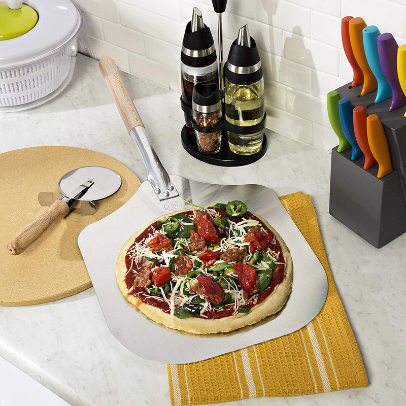 Australia Kitchen Supply 14-Inch x 16-Inch Aluminum Pizza Peel with Wood Handle