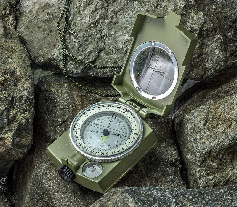 SE CC4580 Military Lensatic and Prismatic Sighting Emergency Compass