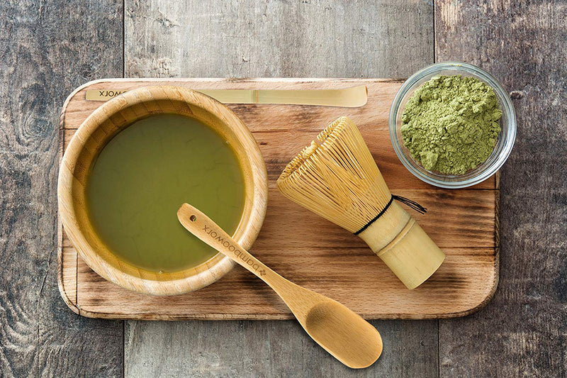 Australia BAMBOOWORX Japanese Tea Set, Matcha Whisk (Chasen), Traditional Scoop (Chashaku), Tea Spoon, The Perfect Set to Prepare a Traditional Cup of Matcha.