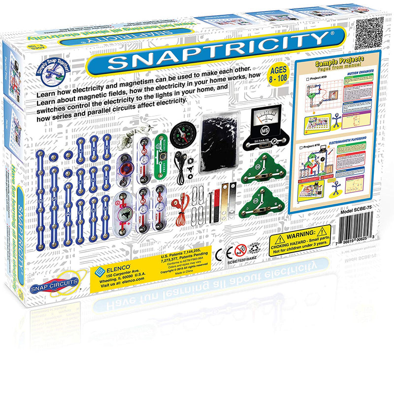 Australia Snap Circuits Snaptricity Electronics Exploration Kit | Over 75 STEM Projects | 4-Color Project Manual | 40 Snap Modules | Unlimited Fun
