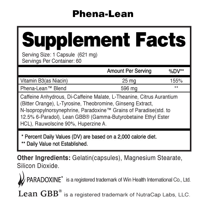 Phena-Lean Supplement Facts